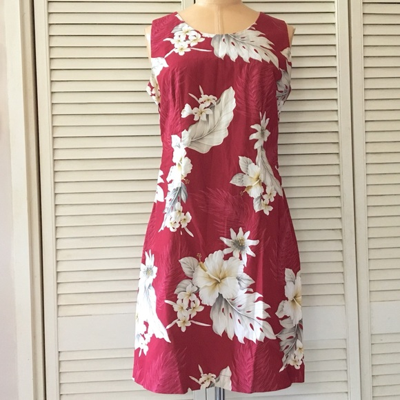 83b00dab Pacific Legend Apparel Dresses | Hawaiian Print Dress Sleeveless ...